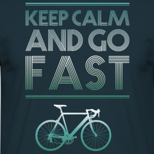 keepcalm cykel cykel gå fort racing - T-shirt herr