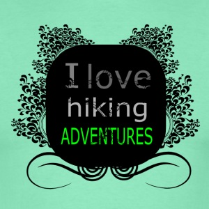 i love hiking adventures - love for hiking - Men's T-Shirt