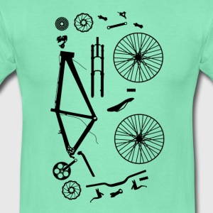 Bicycle Parts - Mannen T-shirt