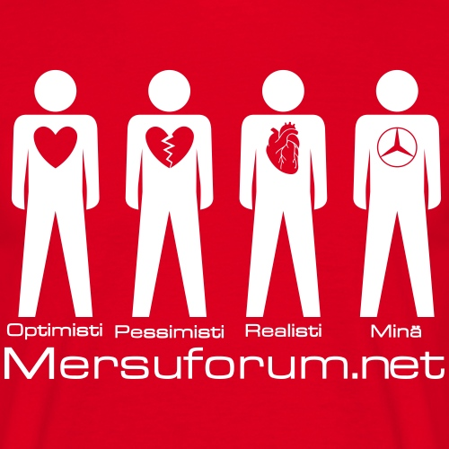 Optimisti, pessimisti, realisti, minä - Miesten t-paita