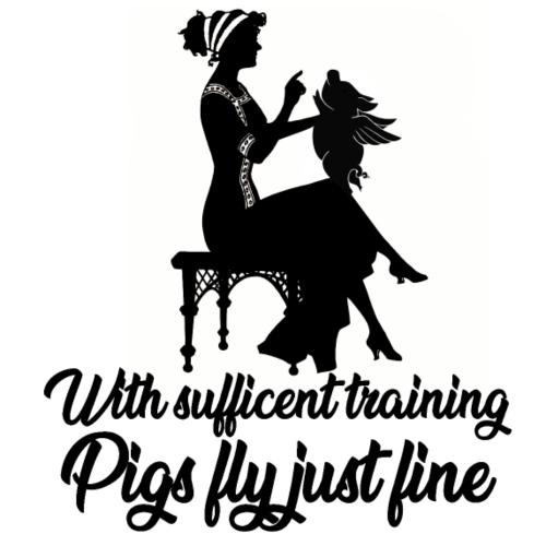 i maiali di addestramento volano il fumetto di progettazione di arte - Maglietta da uomo
