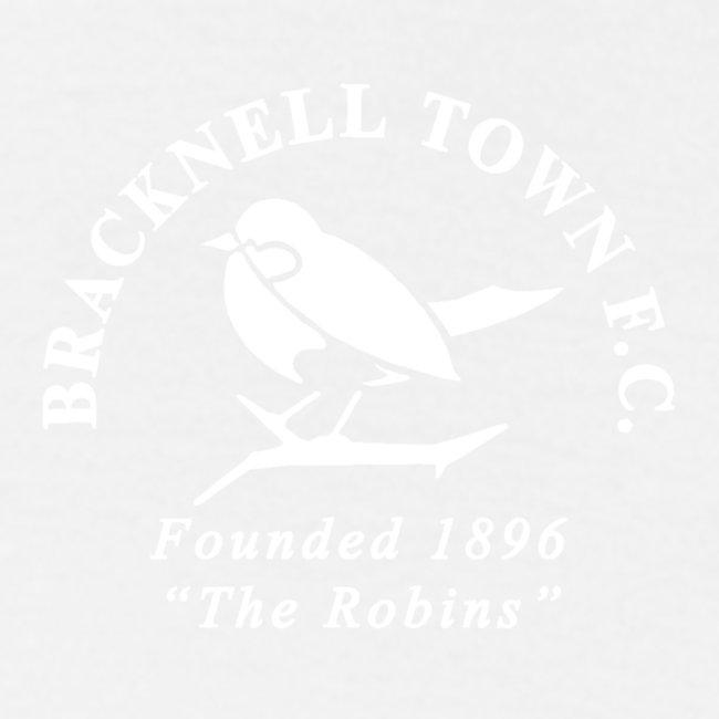 Bracknell Town FC Badge in White