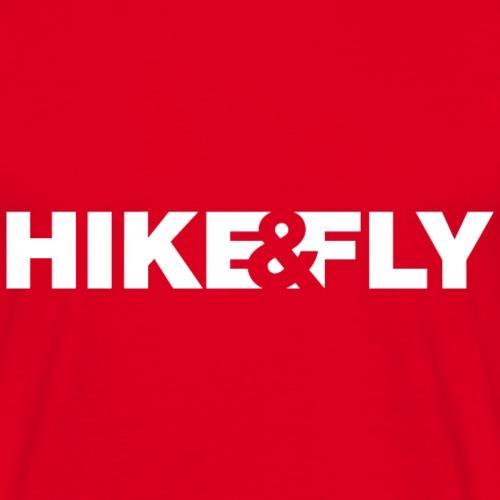 Hike & Fly Paragliding weiß - Männer T-Shirt