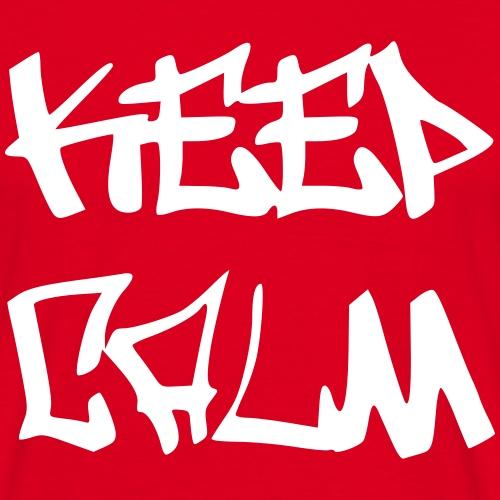 Keep Calm - Graffiti - Männer T-Shirt