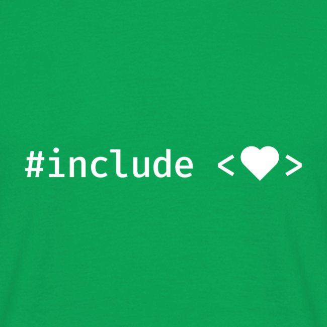 White Include Heart