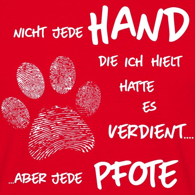 Vorschau: Hand Pfote Hund - Männer T-Shirt