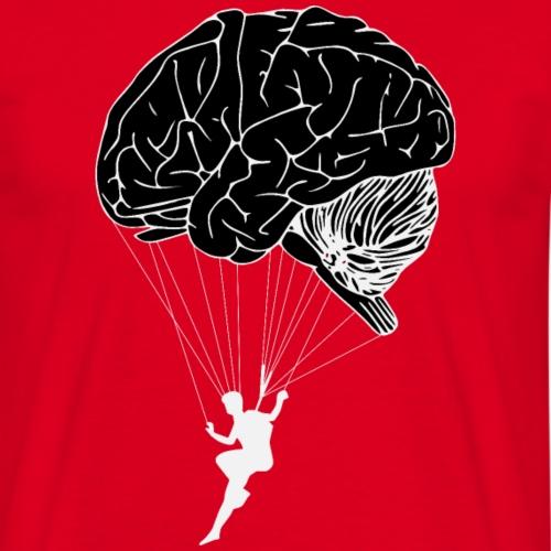 Brain Paragliding - Männer T-Shirt