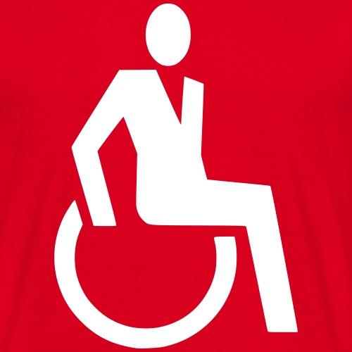 Sjieke rolstoel gebruiker symbool - Mannen T-shirt