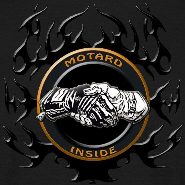 Motard Inside Flammé Noir