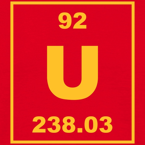 Uranium (U) (element 92) - Men's T-Shirt