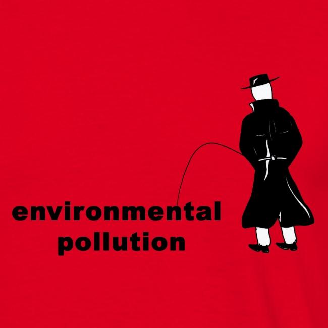 Pissing Man against Environmental Pollution