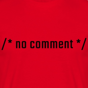 no comment - gemener - T-shirt herr