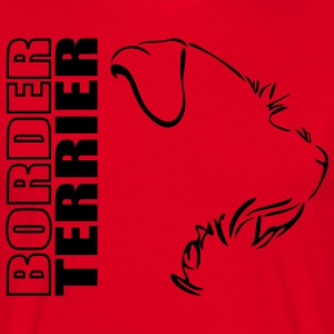 Border Terrier PROFIL WILSIGNS - Herre-T-shirt