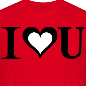 i_love_you - Mannen T-shirt