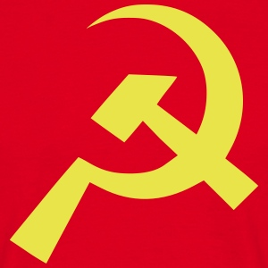 Kommunist Hammer Sickle Flag - T-skjorte for menn