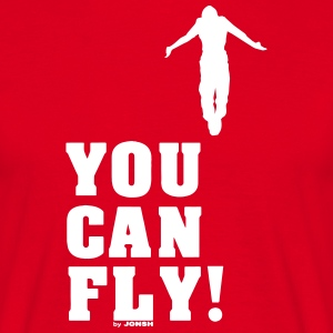 You can fly high white - Men's T-Shirt