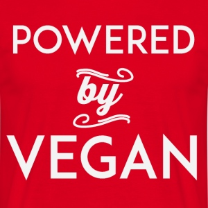 Powered by vegan - Männer T-Shirt