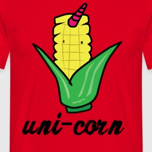 Einhorn: Uni-Corn - Unicorn corncobs - Men's T-Shirt