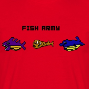 fisk Army - T-shirt herr