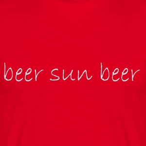beer_sun_beer - T-skjorte for menn