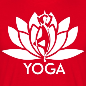 ++ ++ Yoga Flower - T-shirt herr