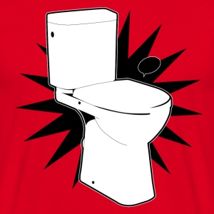 Vector toilet (toilet Super) - Men's T-Shirt