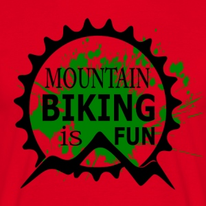 Mountain Biking is Fun - MTB Love - Männer T-Shirt