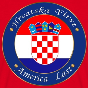 Hrvatska first - Men's T-Shirt