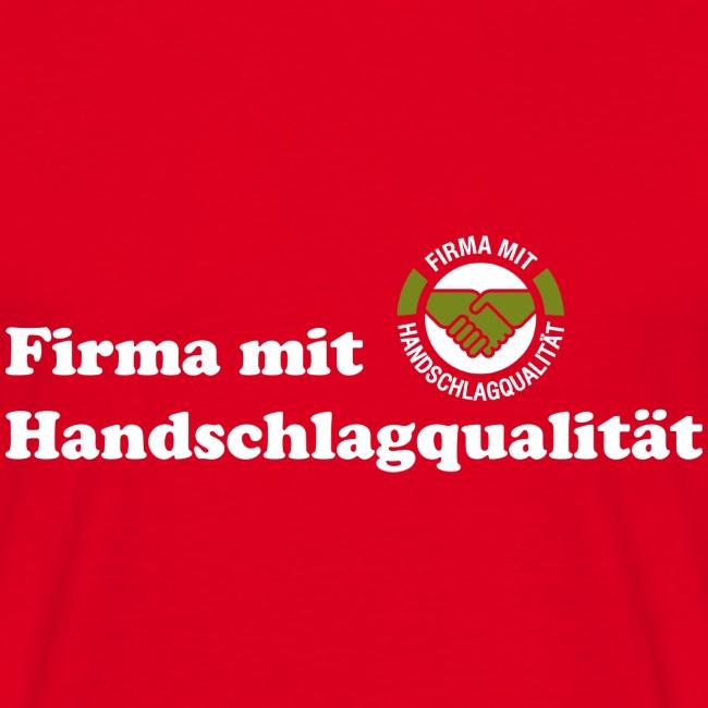 Handschlagqualität Text weiss