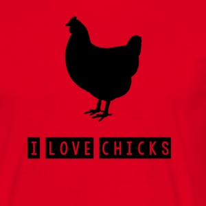 I love poussins - T-shirt Homme