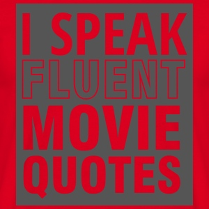 Geek: Jeg taler flydende Movie Quotes - Herre-T-shirt