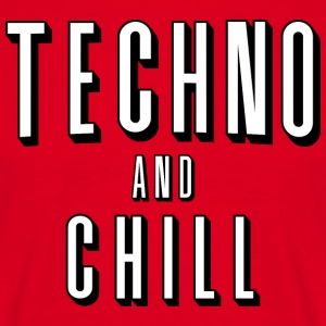 Techno og chill - T-skjorte for menn