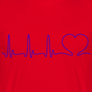 ECG HEART LINE HEART LOVE blue - Men's T-Shirt