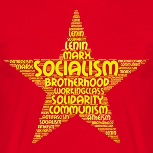 socialisme word cloud - Mannen T-shirt