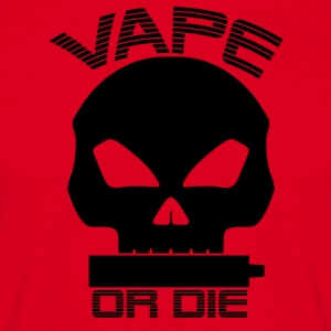 Vape or die (sort) - Herre-T-shirt