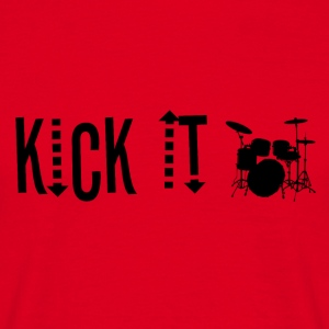 KICK IT - Drummer Passion! - T-skjorte for menn