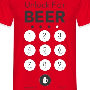 Unlock for more Beer - Männer T-Shirt
