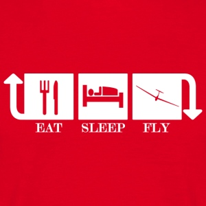Eat Sleep Fly Repeat - Maglietta da uomo