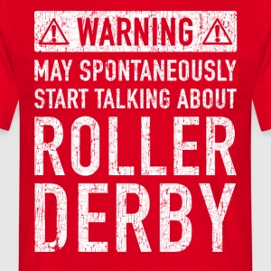Tweet Roller Derby Design - T-skjorte for menn