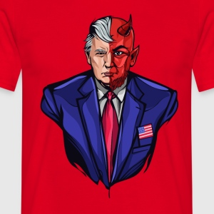 Trump - To konfronteret Devil - Herre-T-shirt