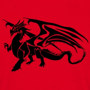 Black Dragon - TribalDragon - Men's T-Shirt