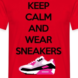 Keep calm and wear sneakers - Men's T-Shirt