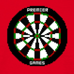 premier games pixelated dartboard - Männer T-Shirt