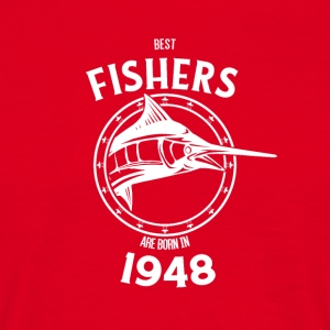 Present for fishers born in 1948 - Men's T-Shirt