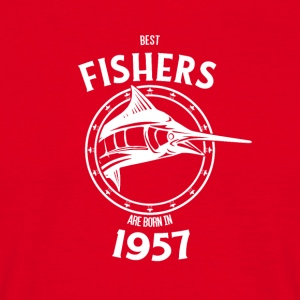 Present for fishers born in 1957 - Men's T-Shirt