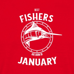 Present for fishers born in January - Men's T-Shirt