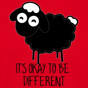 Schapen / boerderij: Het is Ok To Be Different - Mannen T-shirt