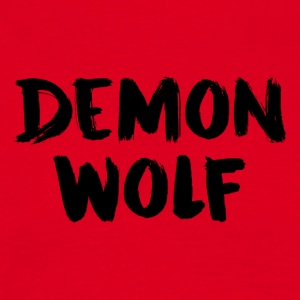 Demon Wolf Textdesign Svart - T-shirt herr