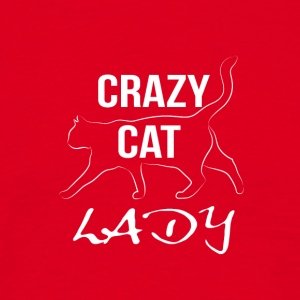 crazy cat lady white - Männer T-Shirt