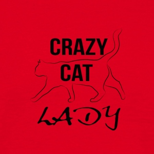 crazy cat lady - Männer T-Shirt